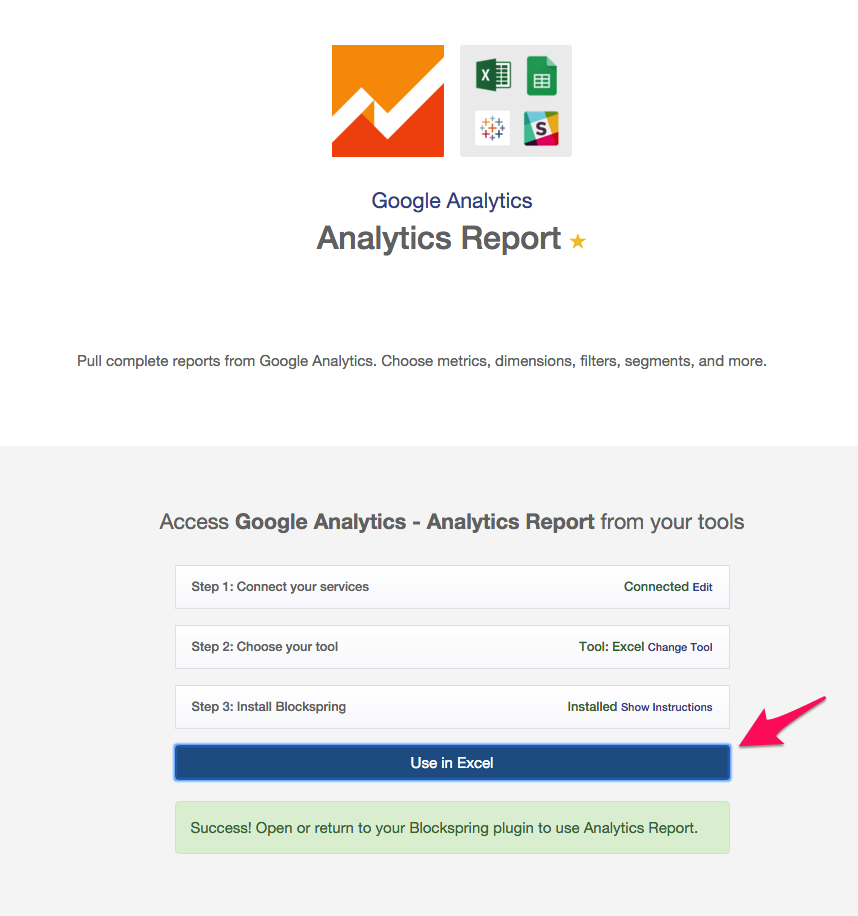 Analytics report excel completed
